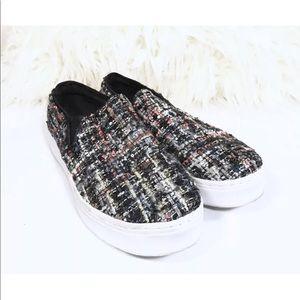 Sam Edelman Tweed 'Lacey' Slip-on Sneakers 9M
